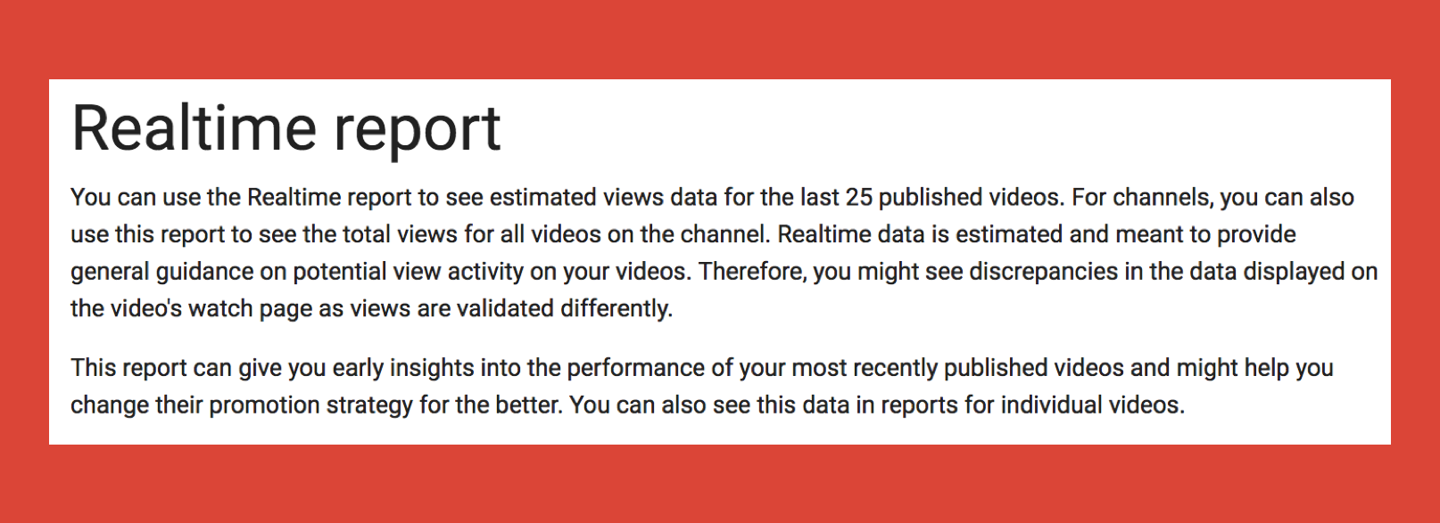 The Youtube Reporting Api Kevin Urban Dont Quote Me On This View However Realtime Is Less Useful For A Media Company That Releases 15 50 Videos Every Day Thus Scraping Which I Covered In Several